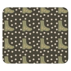 Charcoal Boots Double Sided Flano Blanket (small)  by snowwhitegirl