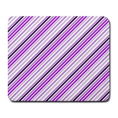 Purple Diagonal Lines Large Mousepads by snowwhitegirl