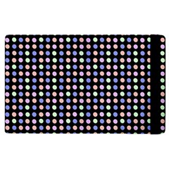 Blue Peach Green Eggs On Black Apple Ipad 2 Flip Case by snowwhitegirl