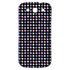 Blue Peach Green Eggs On Black Samsung Galaxy S3 S Iii Classic Hardshell Back Case by snowwhitegirl