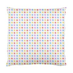 Blue Pink Yellow Eggs On White Standard Cushion Case (two Sides) by snowwhitegirl