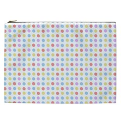 Blue Pink Yellow Eggs On White Cosmetic Bag (xxl)  by snowwhitegirl