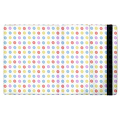 Blue Pink Yellow Eggs On White Apple Ipad 2 Flip Case by snowwhitegirl