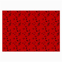 Red Music Large Glasses Cloth (2-side)