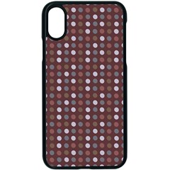 Grey Pink Lilac Brown Eggs On Brown Apple Iphone X Seamless Case (black)