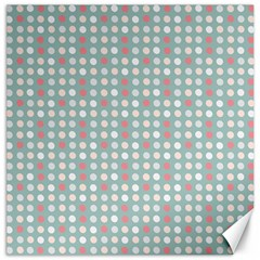 Pink Peach Grey Eggs On Teal Canvas 16  X 16   by snowwhitegirl