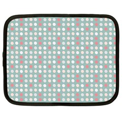 Pink Peach Grey Eggs On Teal Netbook Case (xl)