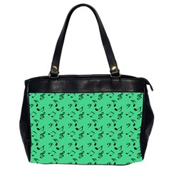 Green Music Office Handbags (2 Sides)  by snowwhitegirl
