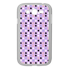 Black White Pink Blue Eggs On Violet Samsung Galaxy Grand Duos I9082 Case (white) by snowwhitegirl