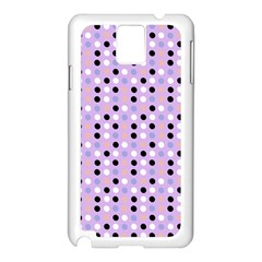 Black White Pink Blue Eggs On Violet Samsung Galaxy Note 3 N9005 Case (white) by snowwhitegirl