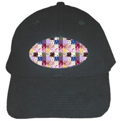Quilt Of My Patterns Small Black Cap by snowwhitegirl