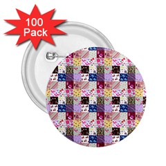 Quilt Of My Patterns Small 2 25  Buttons (100 Pack)