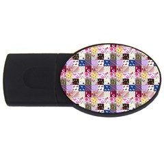 Quilt Of My Patterns Small Usb Flash Drive Oval (2 Gb)