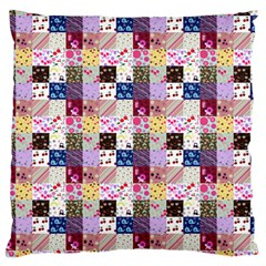 Quilt Of My Patterns Small Large Cushion Case (one Side) by snowwhitegirl