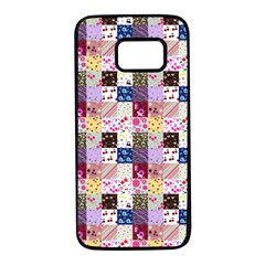 Quilt Of My Patterns Small Samsung Galaxy S7 Black Seamless Case by snowwhitegirl