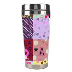 Quilt Of My Patterns Stainless Steel Travel Tumblers by snowwhitegirl