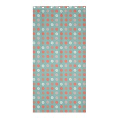 Peach Pink Eggs On Green Shower Curtain 36  X 72  (stall)  by snowwhitegirl