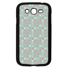 Peach Pink Eggs On Green Samsung Galaxy Grand Duos I9082 Case (black)