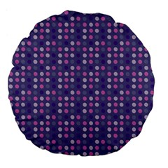 Violet Grey Purple Eggs On Grey Blue Large 18  Premium Flano Round Cushions