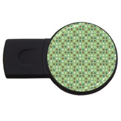 Green Brown  Eggs On Green Usb Flash Drive Round (2 Gb)