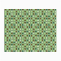 Green Brown  Eggs On Green Small Glasses Cloth (2 Side)