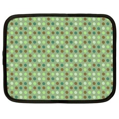 Green Brown  Eggs On Green Netbook Case (large)