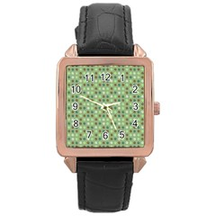 Green Brown  Eggs On Green Rose Gold Leather Watch  by snowwhitegirl