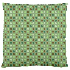 Green Brown  Eggs On Green Large Flano Cushion Case (two Sides) by snowwhitegirl