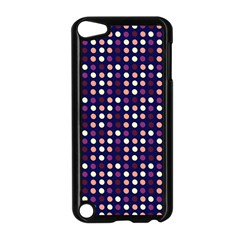 Peach Purple Eggs On Navy Blue Apple Ipod Touch 5 Case (black) by snowwhitegirl
