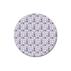 Pink Purple White Eggs On Lilac Magnet 3  (round)