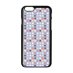 Pink Purple White Eggs On Lilac Apple Iphone 6/6s Black Enamel Case by snowwhitegirl