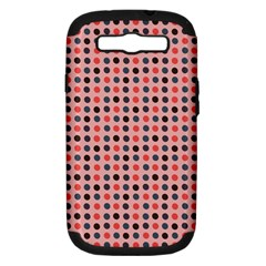 Grey Red Eggs On Pink Samsung Galaxy S Iii Hardshell Case (pc+silicone) by snowwhitegirl