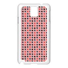 Grey Red Eggs On Pink Samsung Galaxy Note 3 N9005 Case (white) by snowwhitegirl
