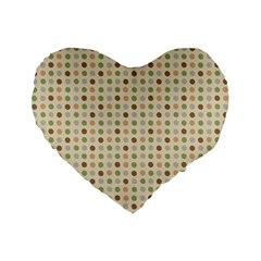 Green Brown Eggs Standard 16  Premium Flano Heart Shape Cushions by snowwhitegirl