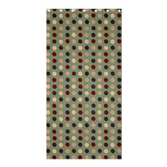 Grey Beige Burgundy Eggs On Green Shower Curtain 36  X 72  (stall)  by snowwhitegirl