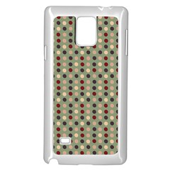 Grey Beige Burgundy Eggs On Green Samsung Galaxy Note 4 Case (white) by snowwhitegirl