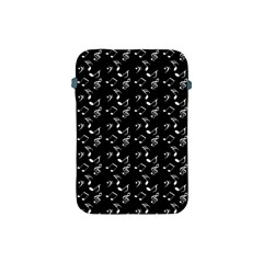 Black Music Notes Apple Ipad Mini Protective Soft Cases by snowwhitegirl