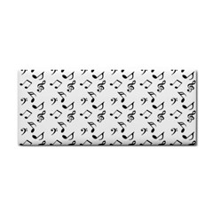 White Music Notes Cosmetic Storage Cases by snowwhitegirl