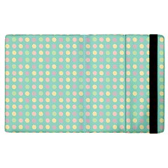 Pink Peach Green Eggs On Seafoam Apple Ipad 2 Flip Case by snowwhitegirl
