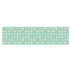 Pink Peach Green Eggs On Seafoam Satin Scarf (oblong)