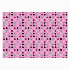 Grey Magenta Eggs On Pink Large Glasses Cloth (2-side)