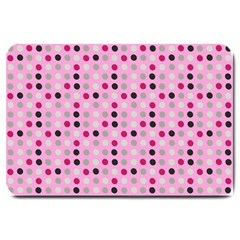 Grey Magenta Eggs On Pink Large Doormat  by snowwhitegirl