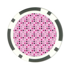 Grey Magenta Eggs On Pink Poker Chip Card Guard (10 Pack) by snowwhitegirl