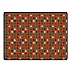 Grey Eggs On Russet Brown Double Sided Fleece Blanket (small)