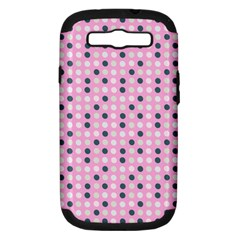 Teal White Eggs On Pink Samsung Galaxy S Iii Hardshell Case (pc+silicone) by snowwhitegirl