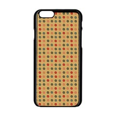 Grey Brown Eggs On Beige Apple Iphone 6/6s Black Enamel Case by snowwhitegirl