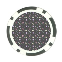 Cakes Yellow Pink Dot Sundaes Grey Poker Chip Card Guard (10 Pack) by snowwhitegirl