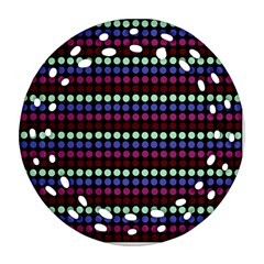Multi Black Dots Ornament (round Filigree) by snowwhitegirl