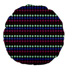 Multi Black Dots Large 18  Premium Flano Round Cushions