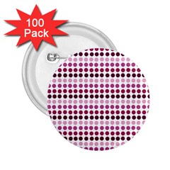 Pink Red Dots 2 25  Buttons (100 Pack)